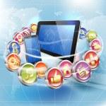 aplicações para plataformas móveis — Vetorial Stock