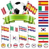 чемпионат по футболу — Cтоковый вектор