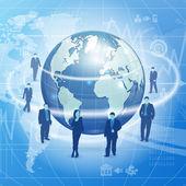 Concepto de negocio global — Vector de stock
