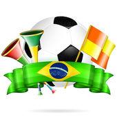 Futbol poster — Stok Vektör