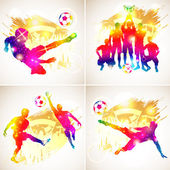 Fotbal silueta — Stock vektor
