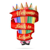 Welcome back to school — Stockvektor