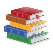 Pila de libros — Vector de stock