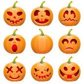 Collecter les citrouilles pour halloween — Vecteur