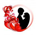 Love Couple — Stock Vector