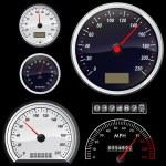Set of speedometer — Stock Vector #6673388
