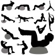 Fitness silhouette — Stock Vector #6825608
