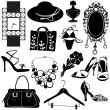 Women accessories — Stock Vector #8252388