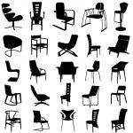 Modern chair vector — Stock Vector #8555668