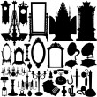 Antique furniture and objects — Stock Vector #8642921