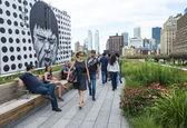 High line park in New York — Stockfoto
