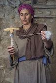 Palestinian weaver — Stock Photo