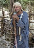 Palestinian shepherd — Stock Photo