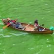 Chicago River dyed green - ストック写真