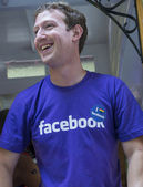 Facebook in San Francisco gay pride — Foto de Stock