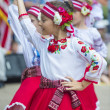 Ukrainian folk dancers — Stock Photo