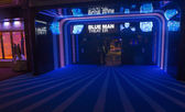 Blue man theater — Stock Photo