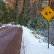 icy road — Stock Photo