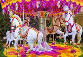 Las Vegas Wynn hotel flower installation — Stock Photo