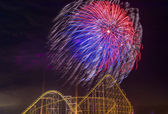 4th of July fireworks — Stock Photo