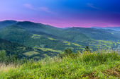 landscape of mountains in the early morning — Stock Photo
