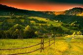 山の夕焼け — ストック写真