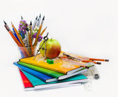 Composition of a school subject to the Teachers' Day — Stock Photo