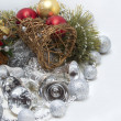 Christmas card with bells — Stock Photo #34983659