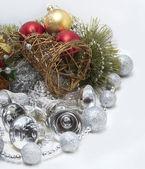 Weihnachtskarte mit glocken — Stockfoto