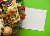 Christmas letter. Holiday card — Stock Photo