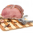 Stock Photo: Pork on cutting board