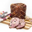 Stock Photo: Pieces of pork on cutting board