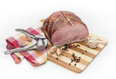 Pork with garlic and allspice. — Stock Photo