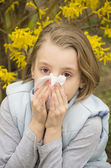 Allergic rhinitis — 图库照片