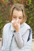 Allergic rhinitis — Stock Photo