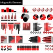 Infographic in black, red and gray color — Stock Vector