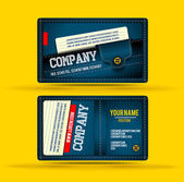 Denim business card — Stock Vector
