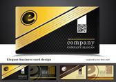 Elegant business card design — Stock Photo