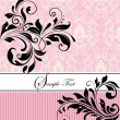 Vector de stock : Floral invitation card