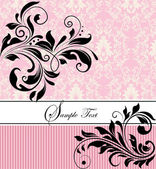 Floral invitation card — Vettoriale Stock