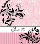 花の招待カード — ストックベクタ