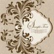 Vintage illustration with floral ornament - Stock Vector
