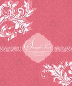 Floral uitnodigingskaart — Stockvector