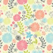 Floral seamless pattern, vector design — Stockvektor