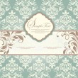 Wedding invitation card with floral background — Vector de stock