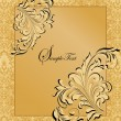 Vintage invitation card with abstract floral background — Stock Vector #12728436