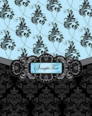 Wedding invitation card with floral background — Cтоковый вектор