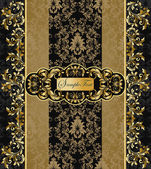 Elegant vector black and gold background — Vetor de Stock