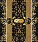 Elegante vector zwarte en gouden achtergrond — Stockvector