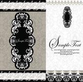 Damask invitation card — Stock Vector